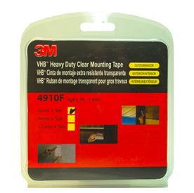 3M VHB Heavy Duty Clear Mounting Tape 4910F