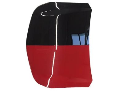 Черно-красная модель капота - BIG SIZE car hood model with half BLACK and half RED paint